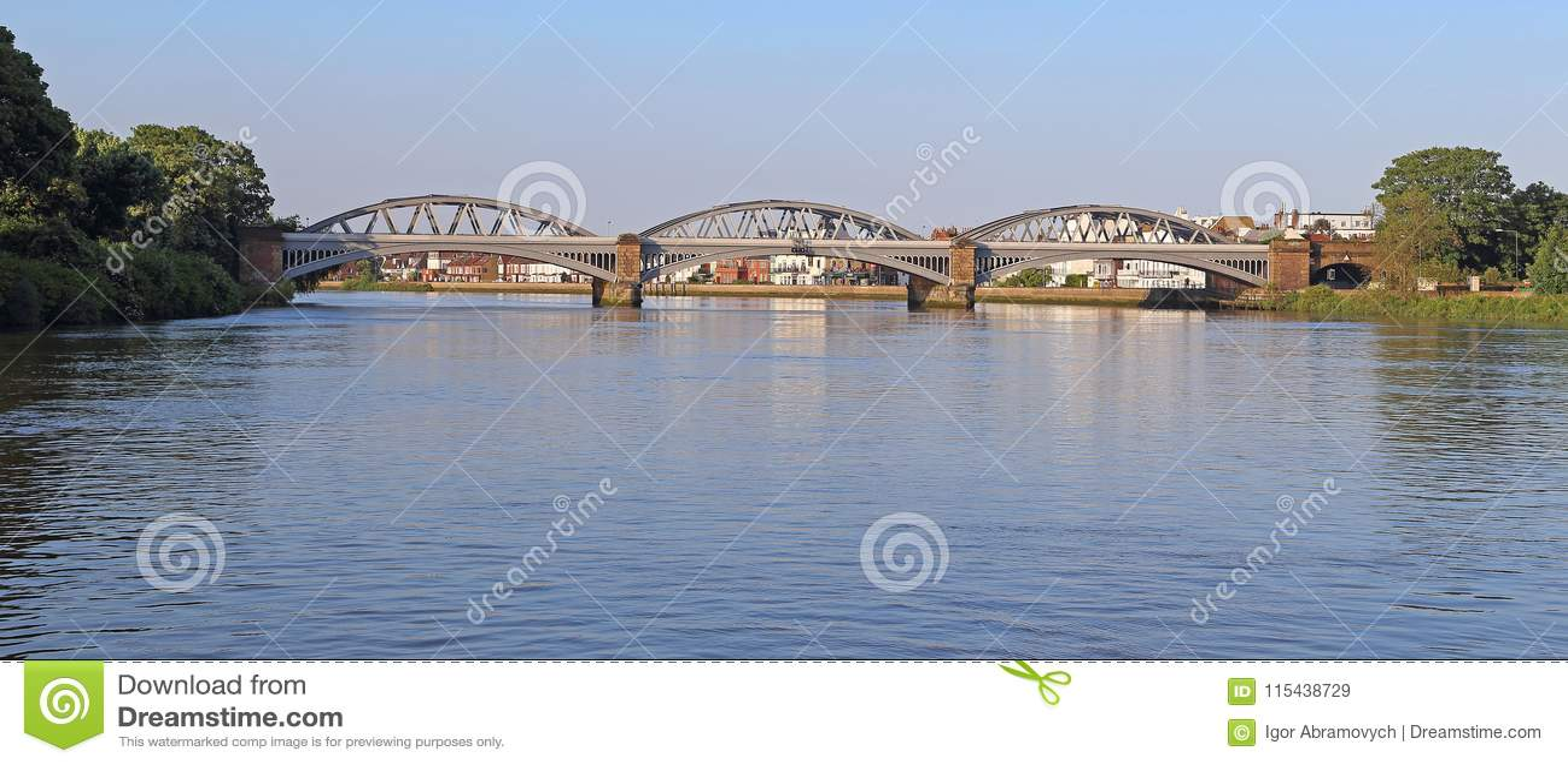 Barnes Bridge Over The River Thames, UK Editorial Stock ...