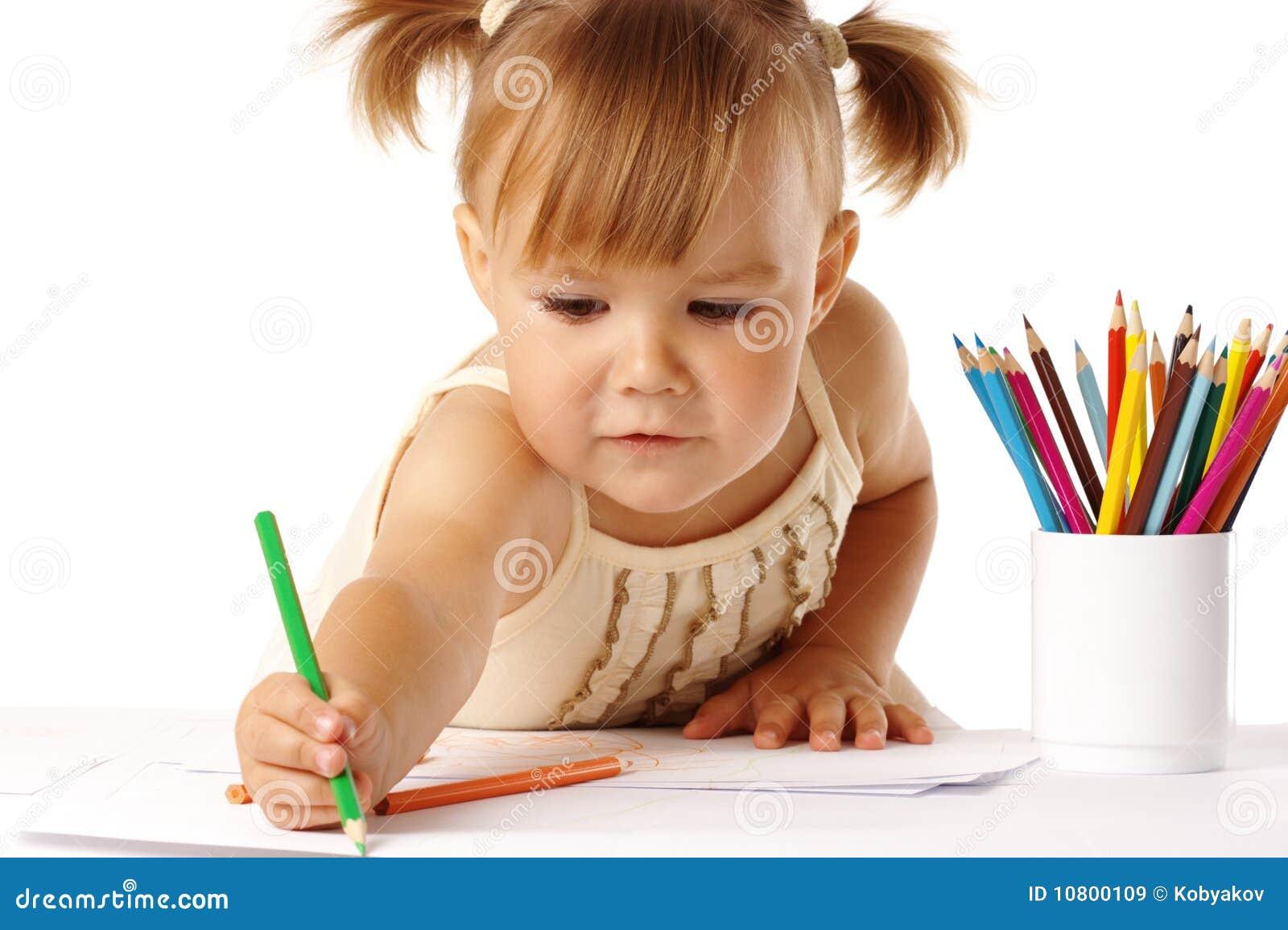 Barnet crayons gullig draw
