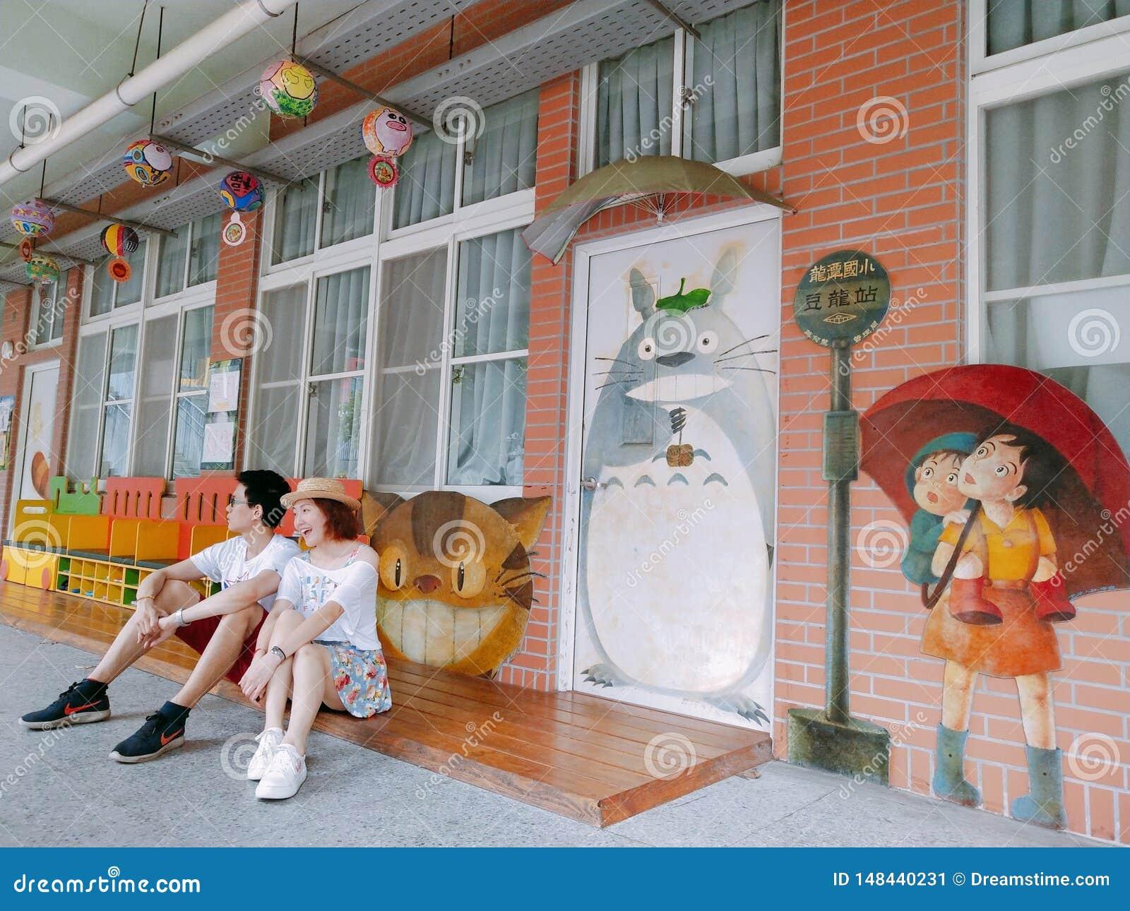 Barnet kopplar ihop i det Taiwan loppet