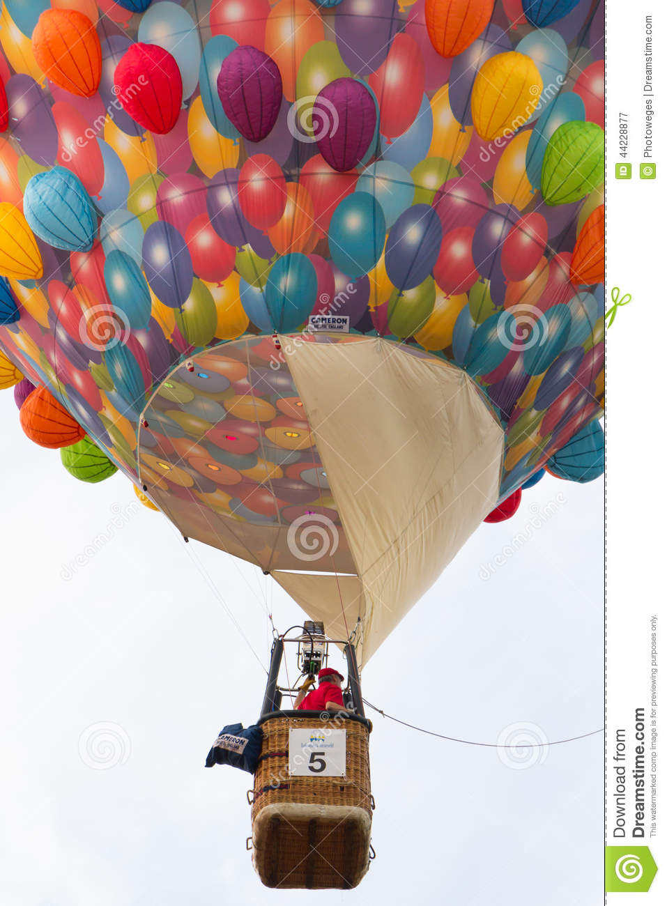 BARNEVELD, THE NETHERLANDS - AUGUST 28: Colorful air balloons ta