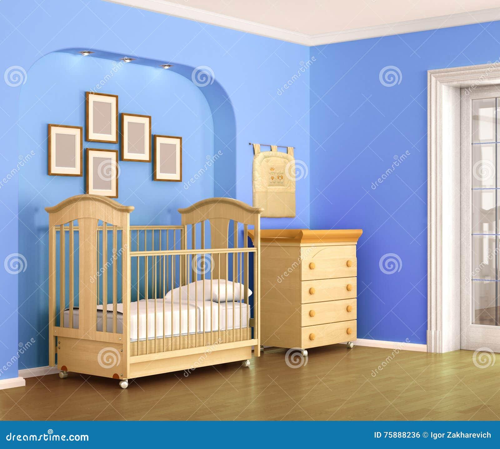 Barnrum i blåttsignaler, för behandla som ett barn pojken stock ...