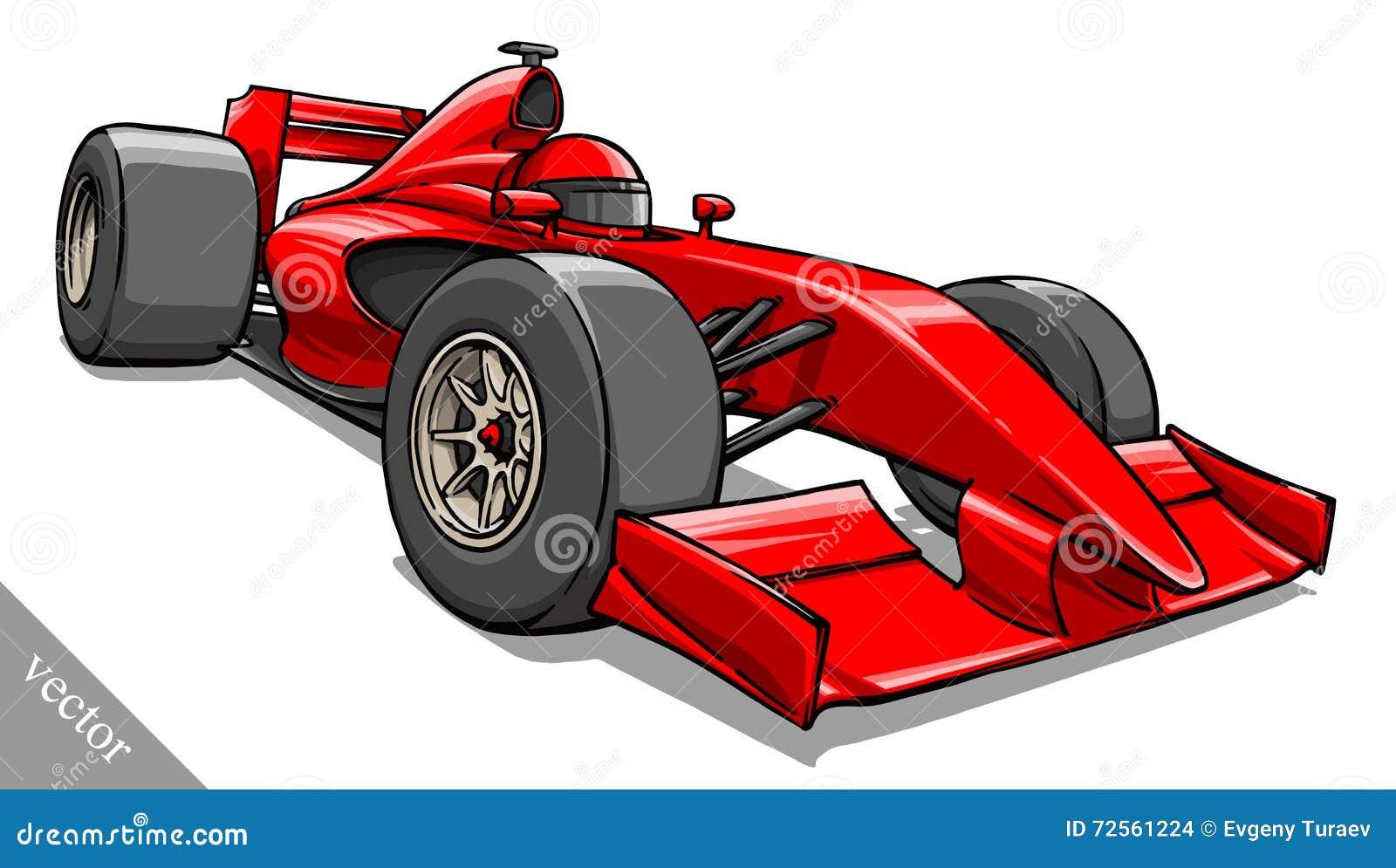 Barns rolig konst för illustration för vektor för racerbil för tecknad filmformel