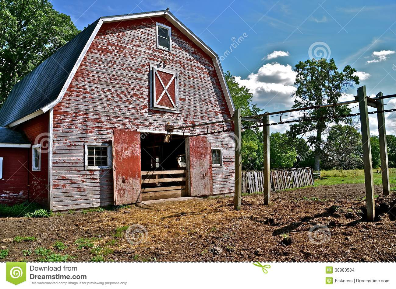Barnyard memories stock photo image 38980584 for Hip roof barns