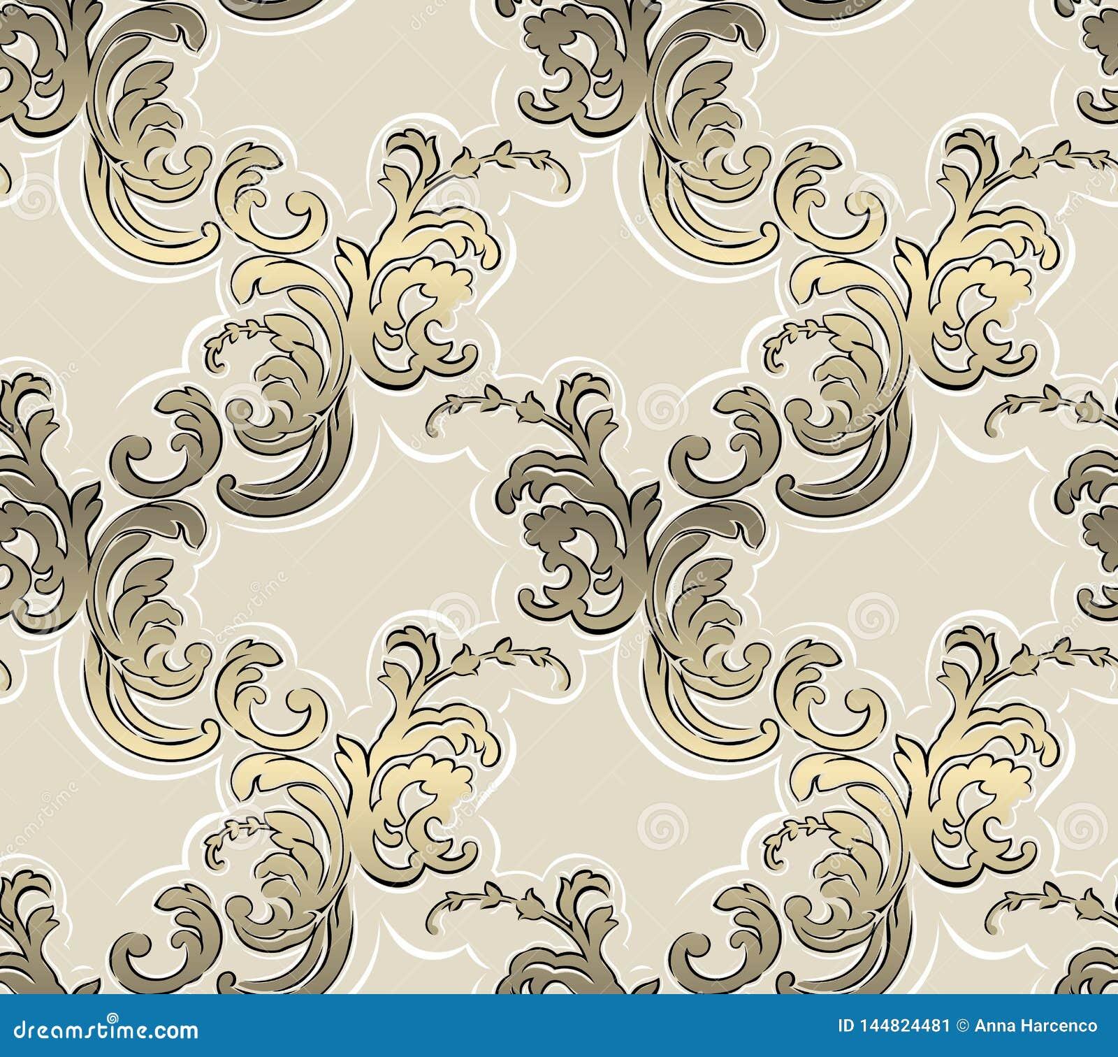 Barok naadloos patroon