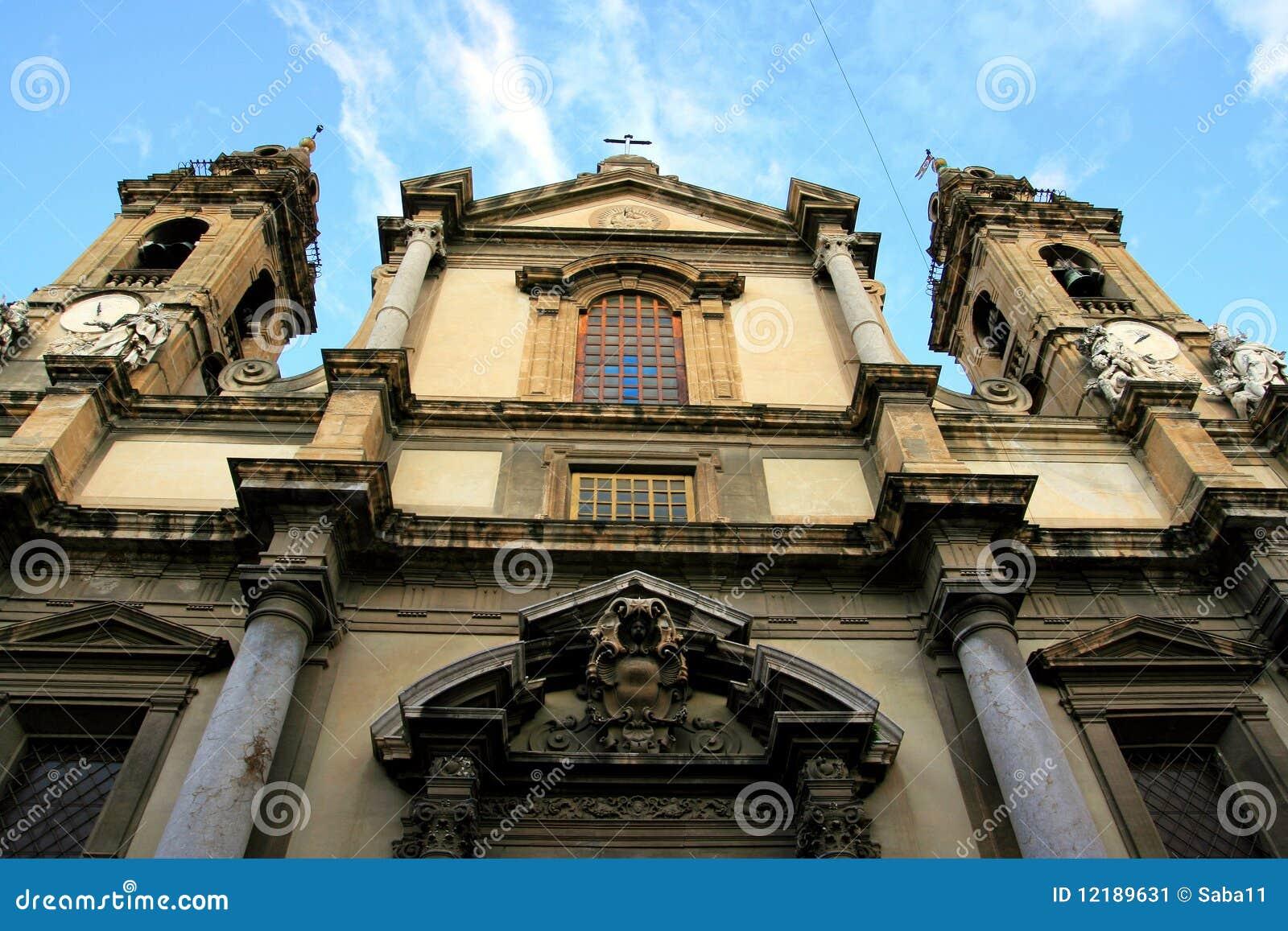 Barokke kerk. S. Ingnazio Olivella, Palermo
