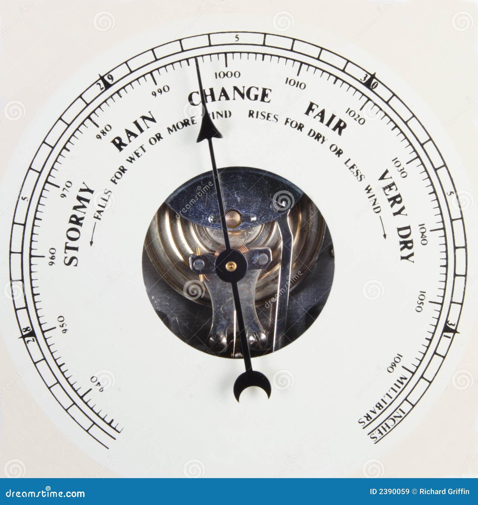 Barometer dial set to change