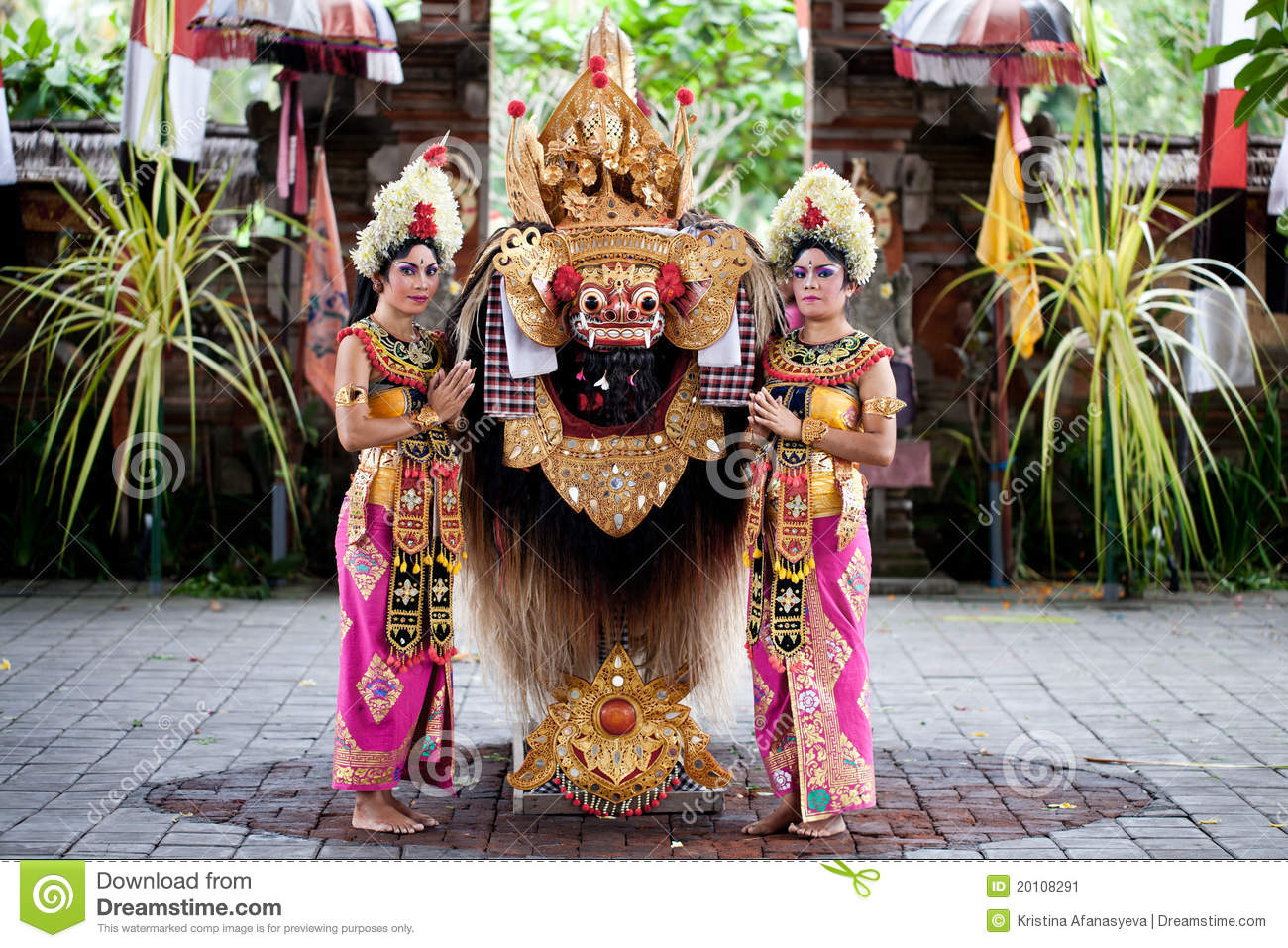 Balinese dancer costume
