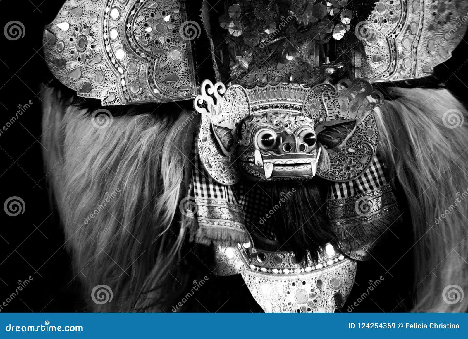 Barong, een schepsel in mythologie van Bali, Indonesië