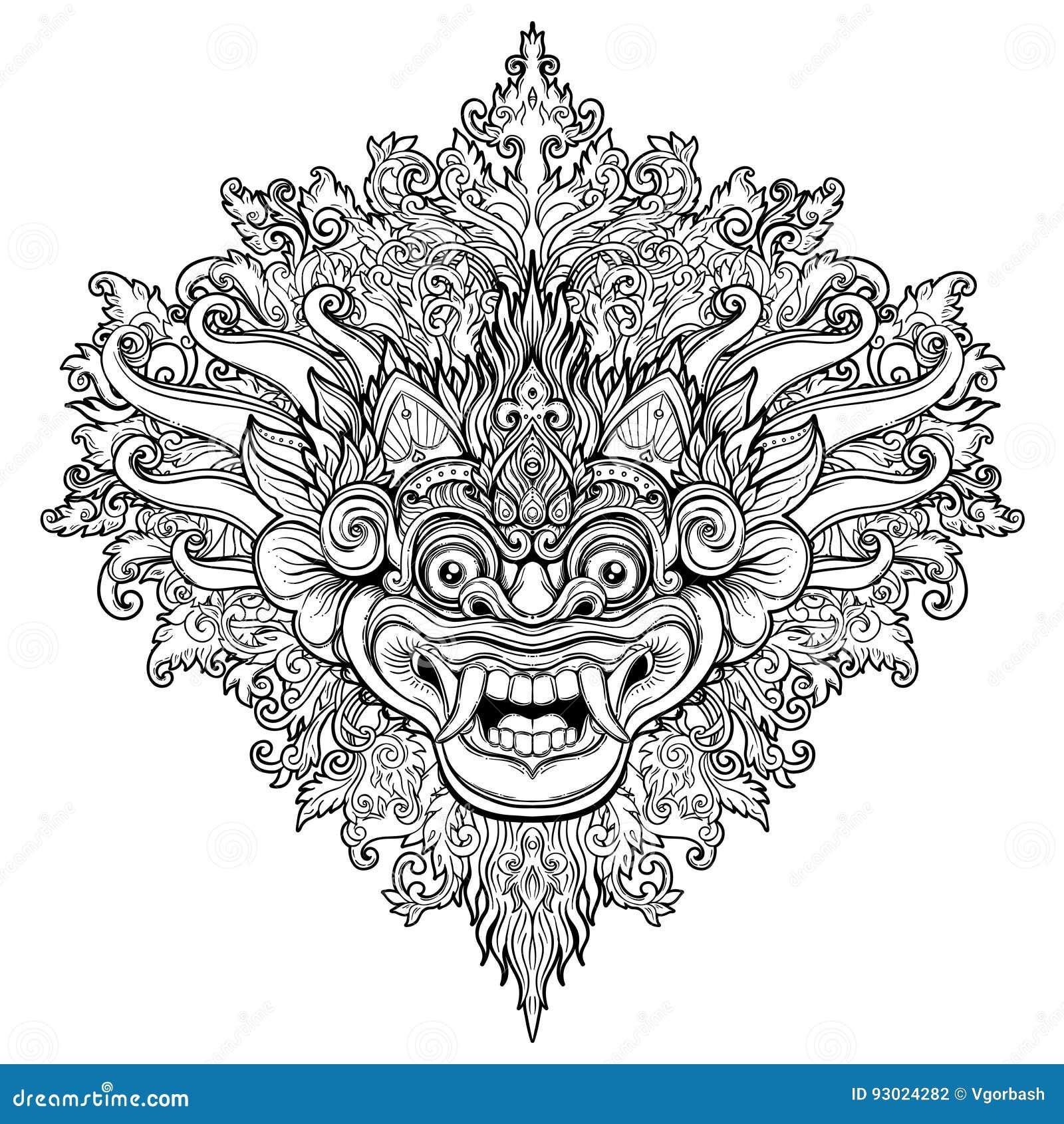Barong traditional ritual balinese mask vector decorative orna barong traditional ritual balinese mask vector decorative orna buycottarizona
