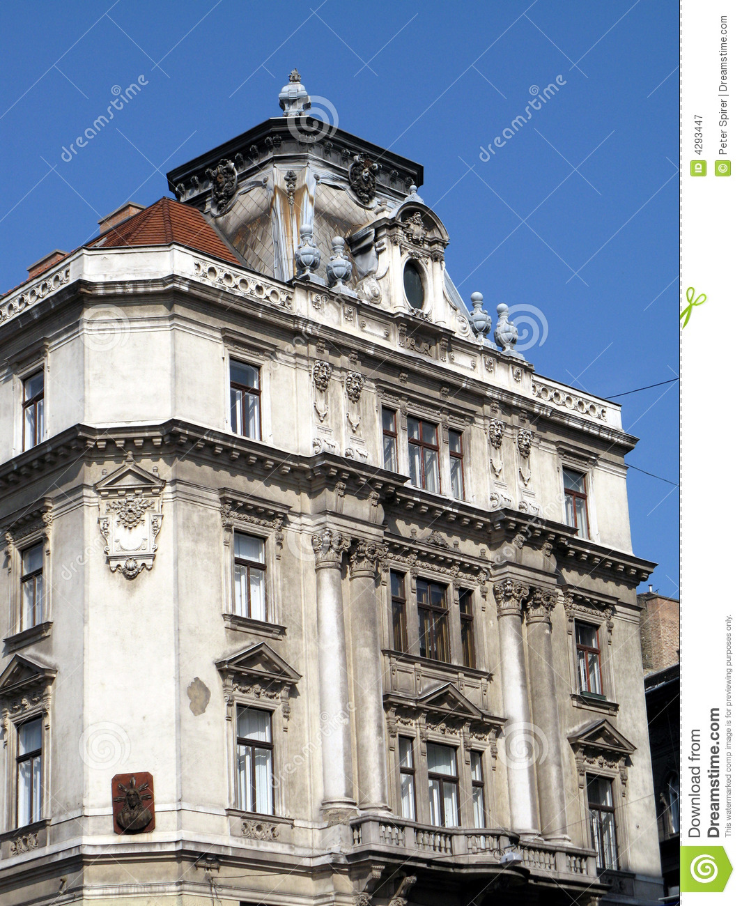 Baroque architecture budapest royalty free stock for Baroque architecture examples