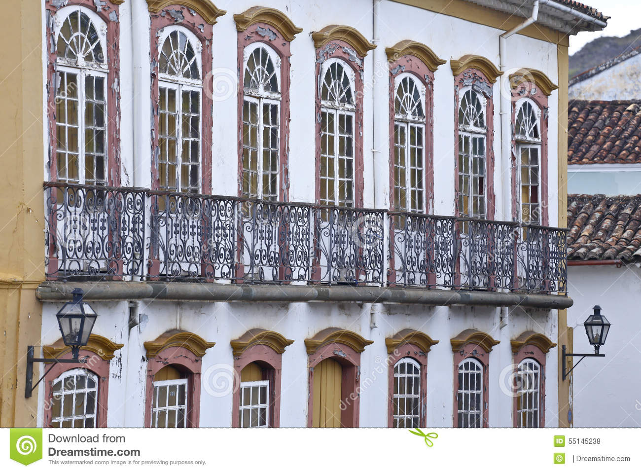 Baroque Architecture Old Mansion Stock Photo Image 55145238