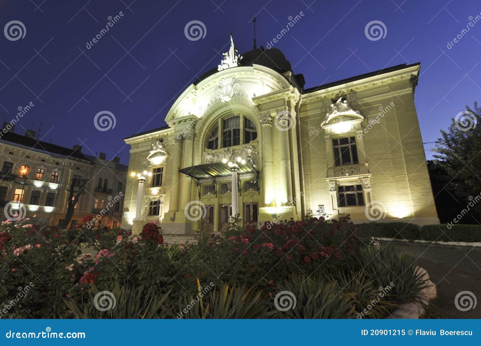 Baroque building of chernivtsi theater in ukraine stock image