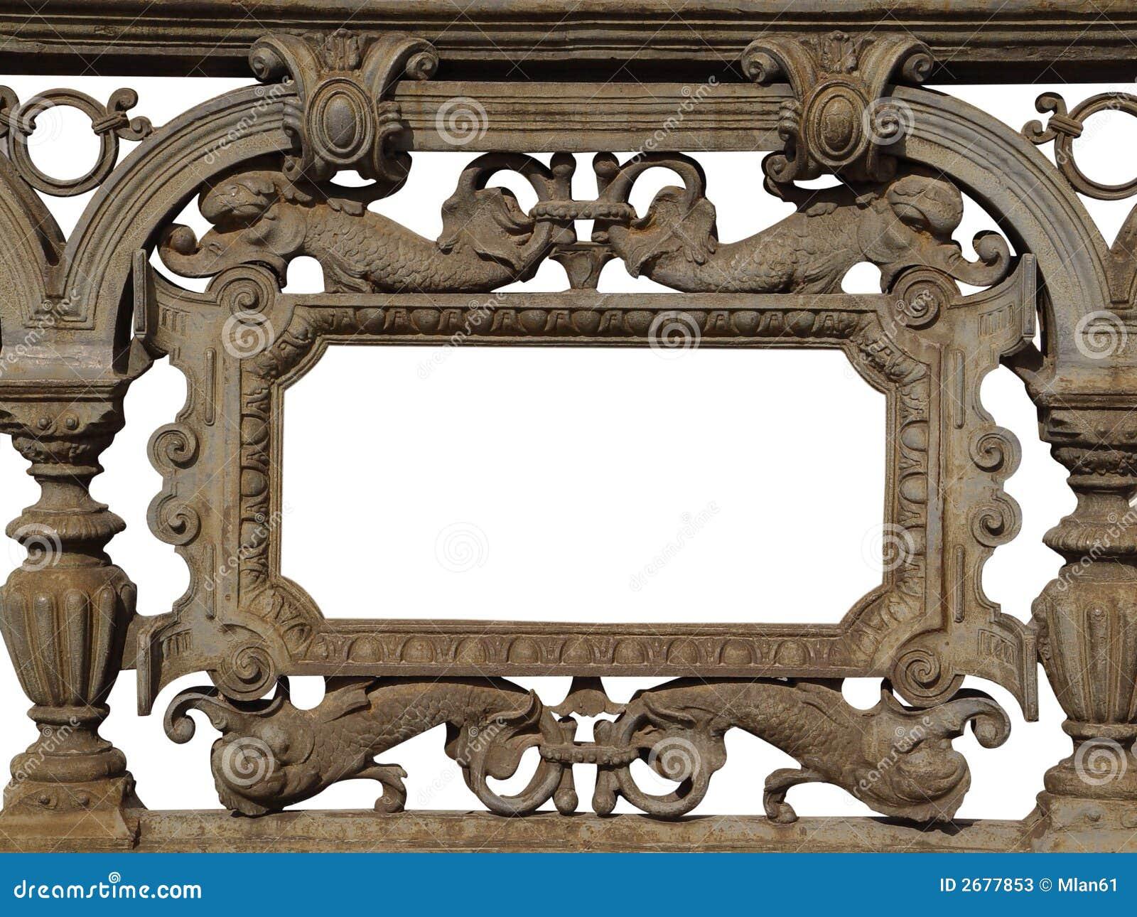Baroque cast iron frame stock image. Image of decoration - 2677853