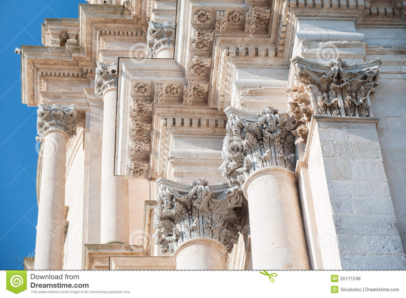 Baroque church stock photo image 55111246 for Baroque architecture elements