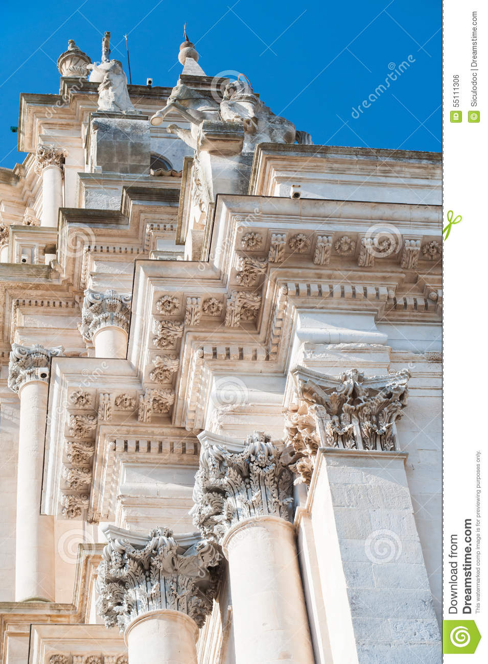 Baroque church stock photo image 55111306 for Baroque architecture elements