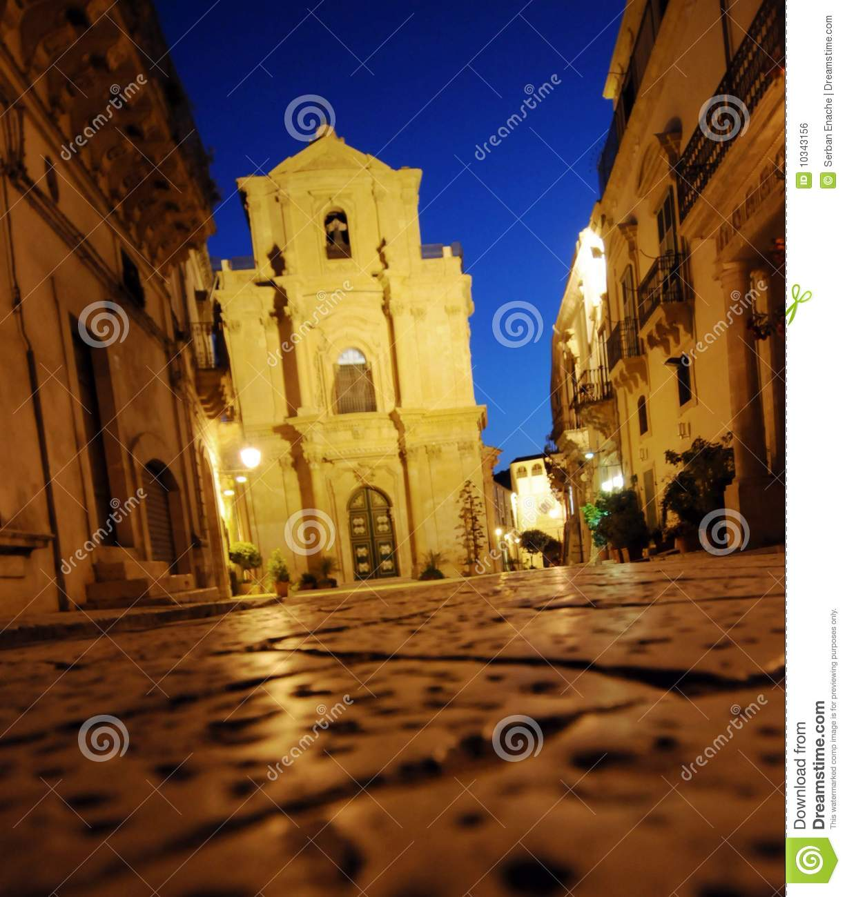 baroque church lit at night royalty free stock image image 10343156. Black Bedroom Furniture Sets. Home Design Ideas