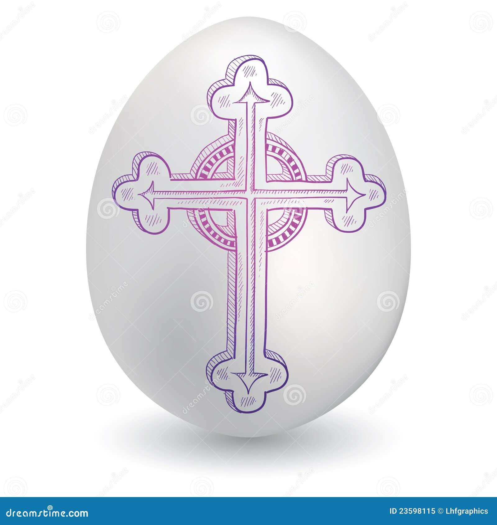 Baroque cross on easter egg stock vector illustration of faith baroque cross on easter egg biocorpaavc
