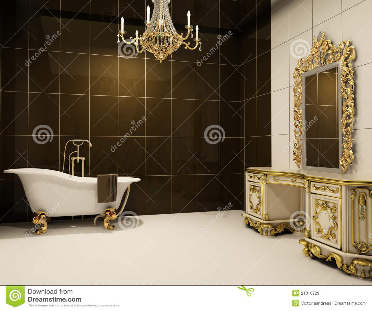 baroque furniture in bathroom royalty free stock images - image, Hause ideen