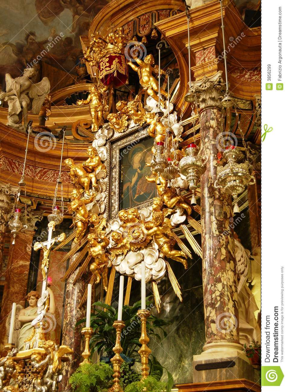 Baroque high altar royalty free stock images image 3856299 for Baroque italien