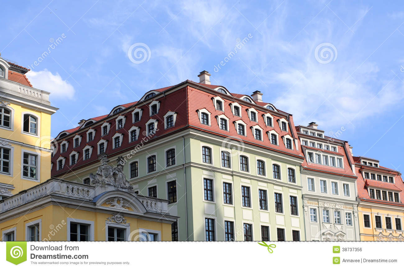 Baroque Houses Dresden Royalty Free Stock Image