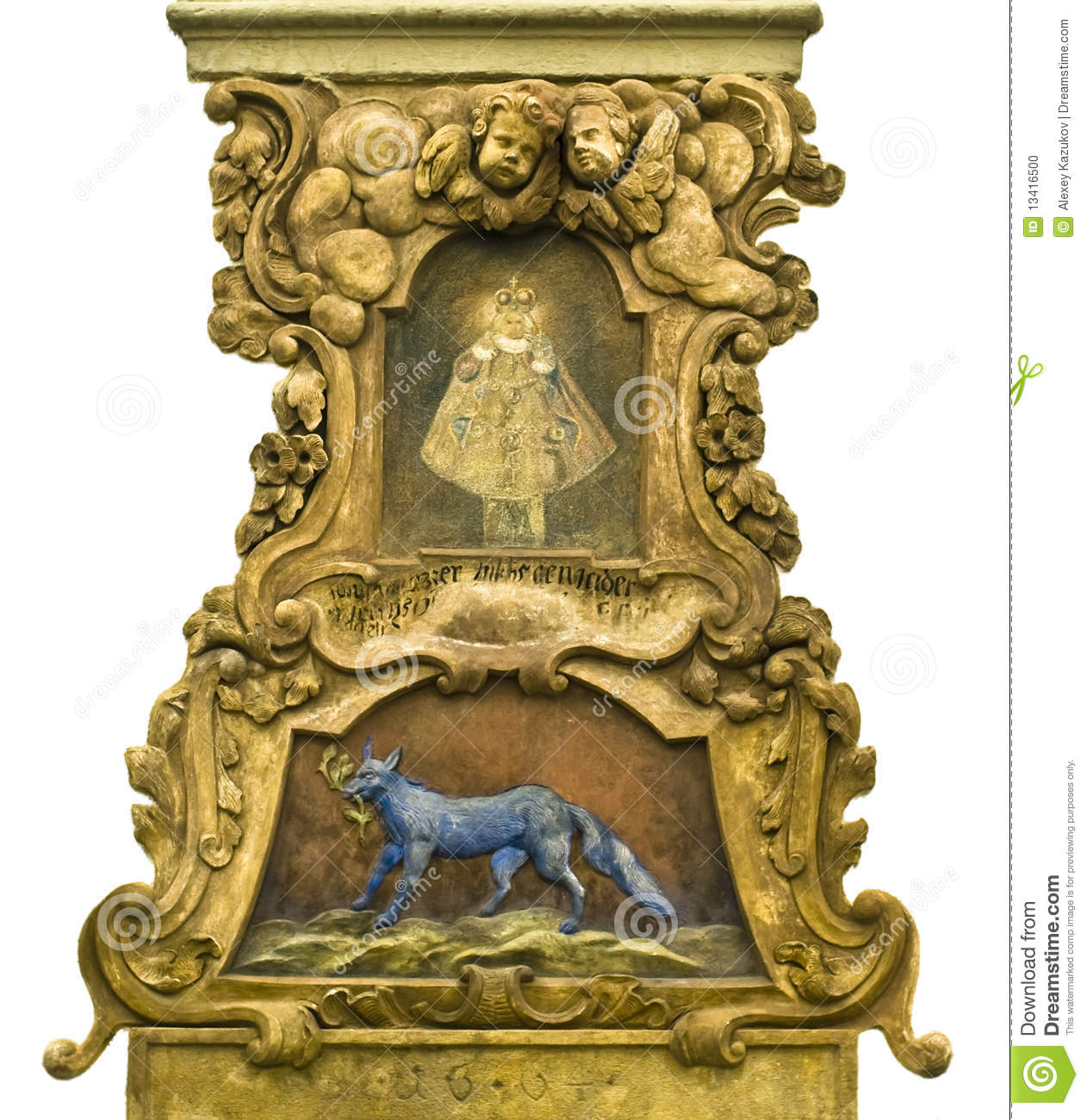 Baroque medieval decor in prague stock photo image 13416500 for Baroque home accessories