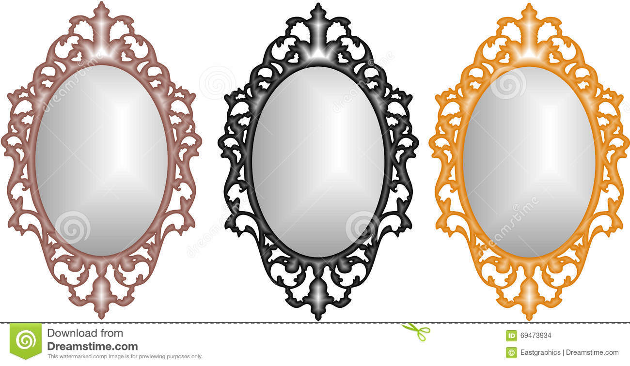 Baroque Gold Mirrors Baroque Mirrors gold, Rose Gold and Silver