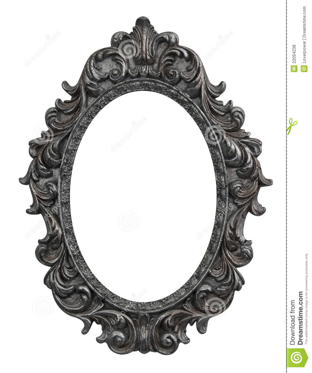 baroque oval frame stock photo image of grunge photo 22094238. Black Bedroom Furniture Sets. Home Design Ideas
