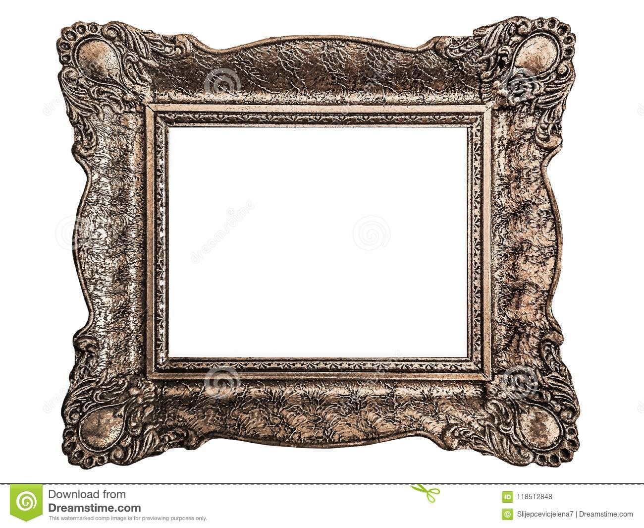 208f382114f Baroque Picture Frame Isolated On White Background Stock Photo ...