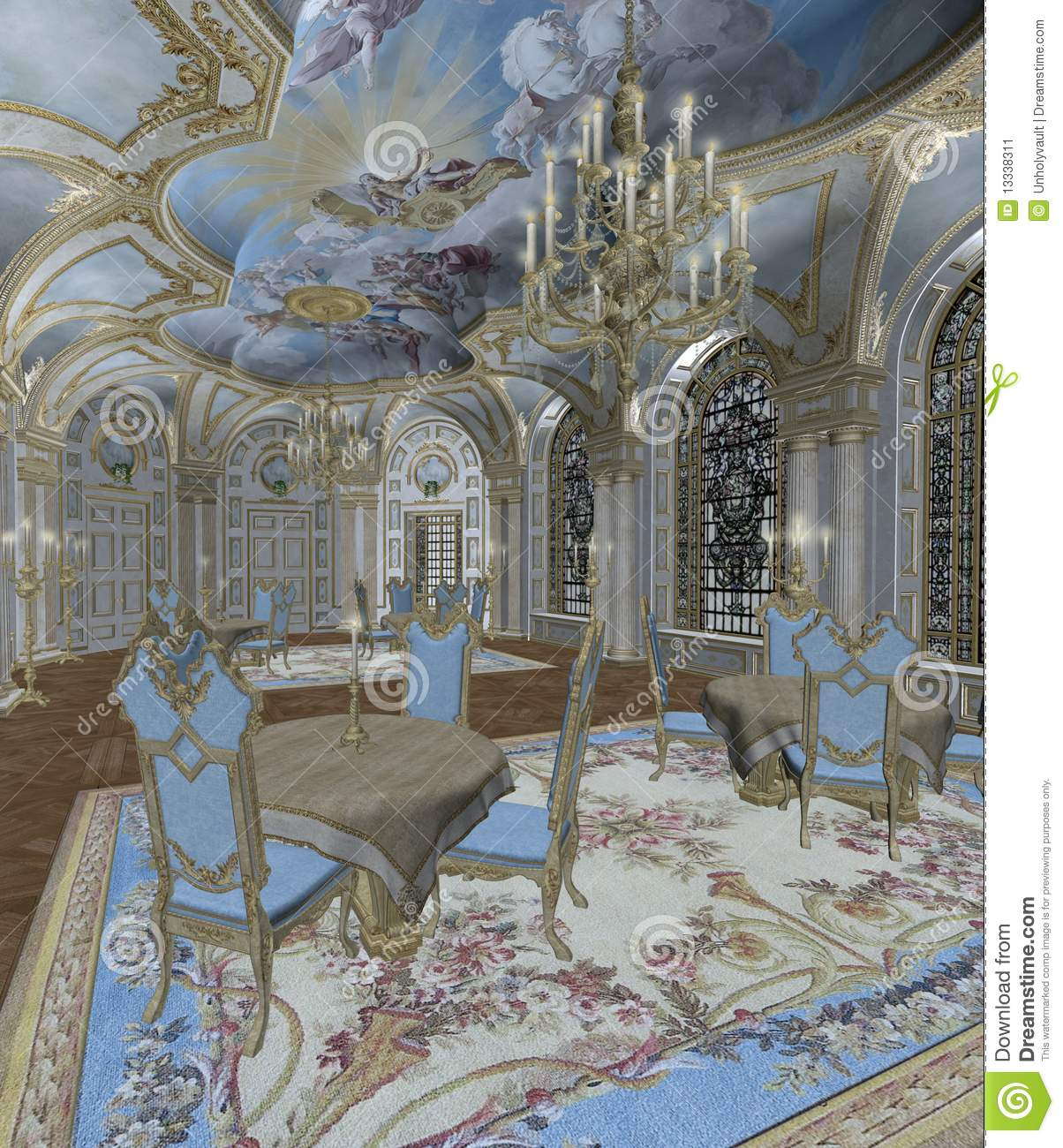 Baroque Room 2 Stock Image Image 13338311