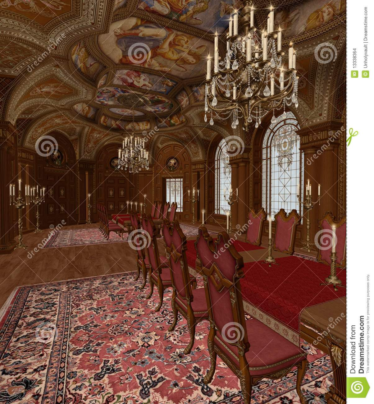 Baroque Room 3 Stock Images Image 13338364