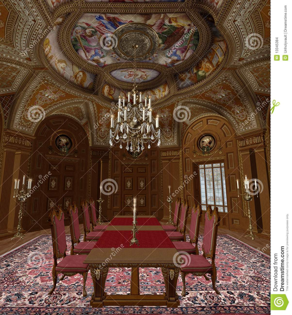 Baroque Room 4 Stock Images Image 13345384