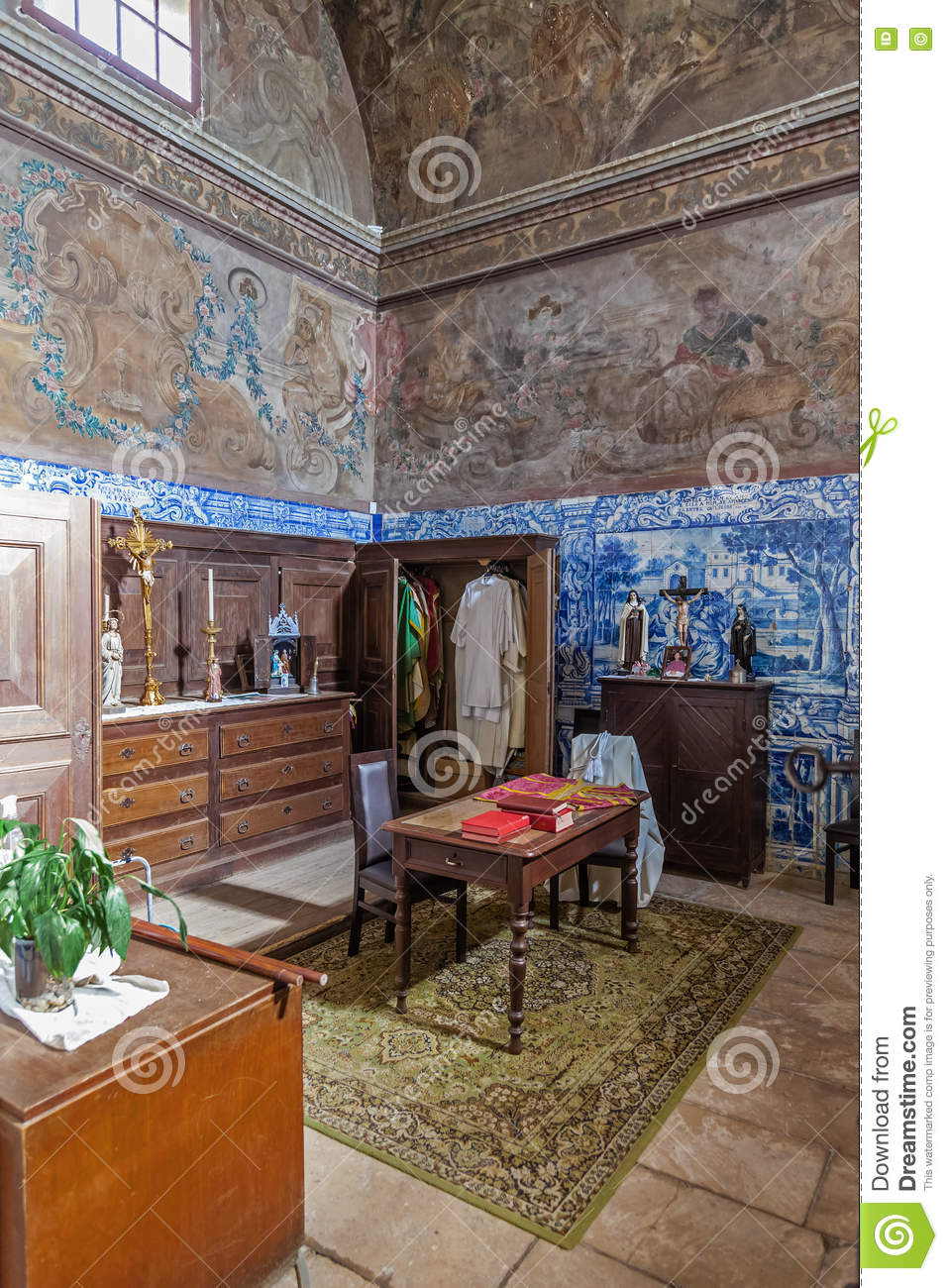 The baroque sacristy with blue tiles and frescos painted in the the baroque sacristy with blue tiles and frescos painted in the walls and ceiling dailygadgetfo Image collections