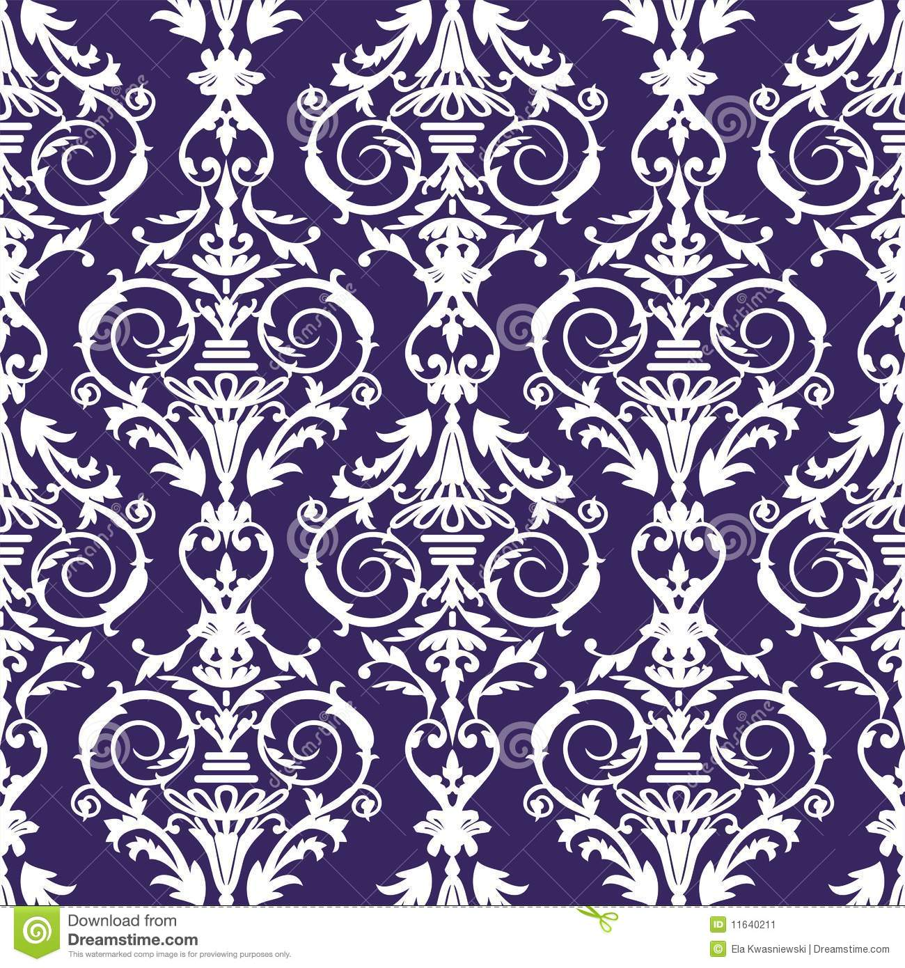 Baroque Seamless Pattern, Vector Illustration Stock Image - Image ...