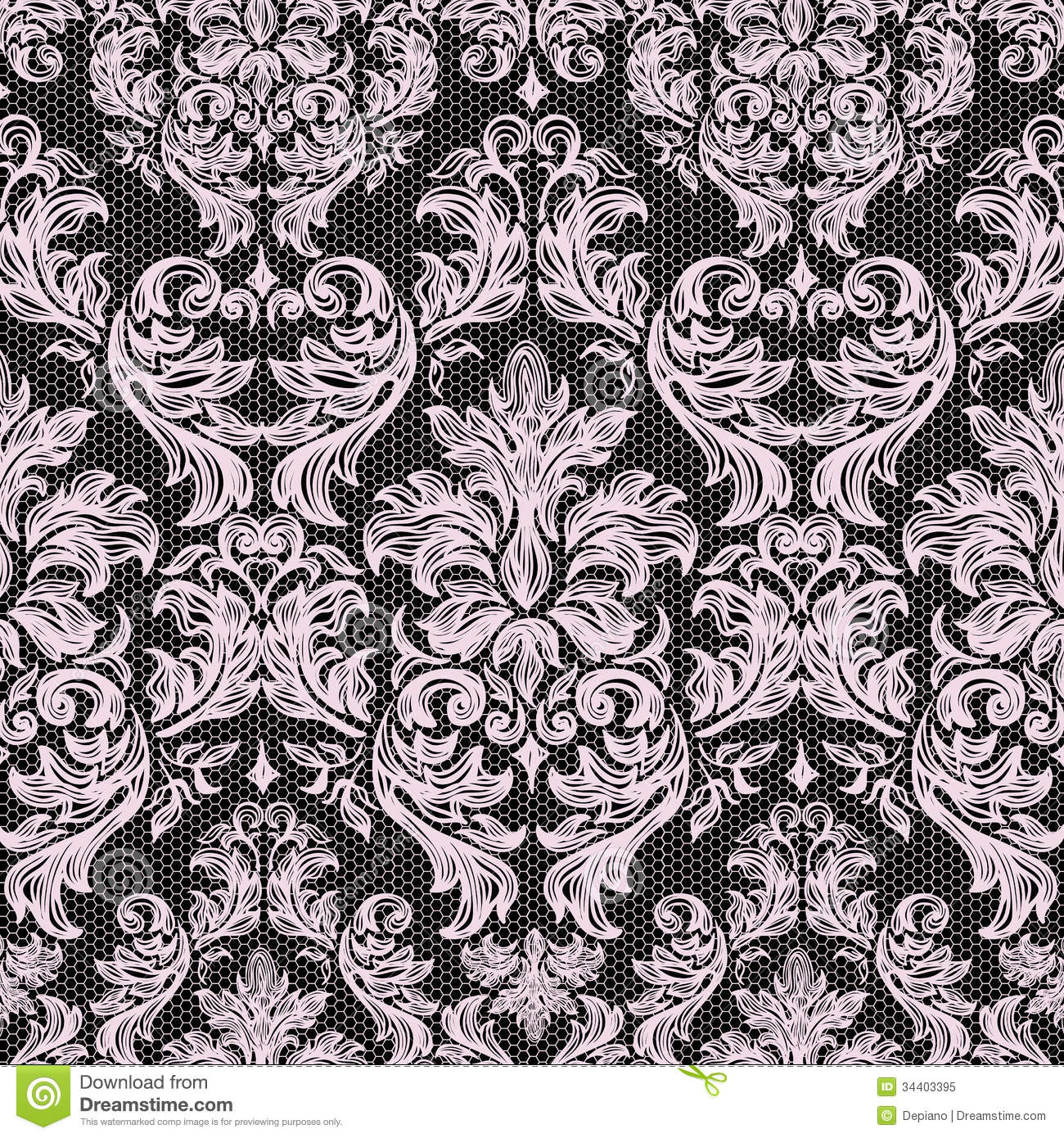 Baroque Seamless Vintage Lace Background Royalty Free ...
