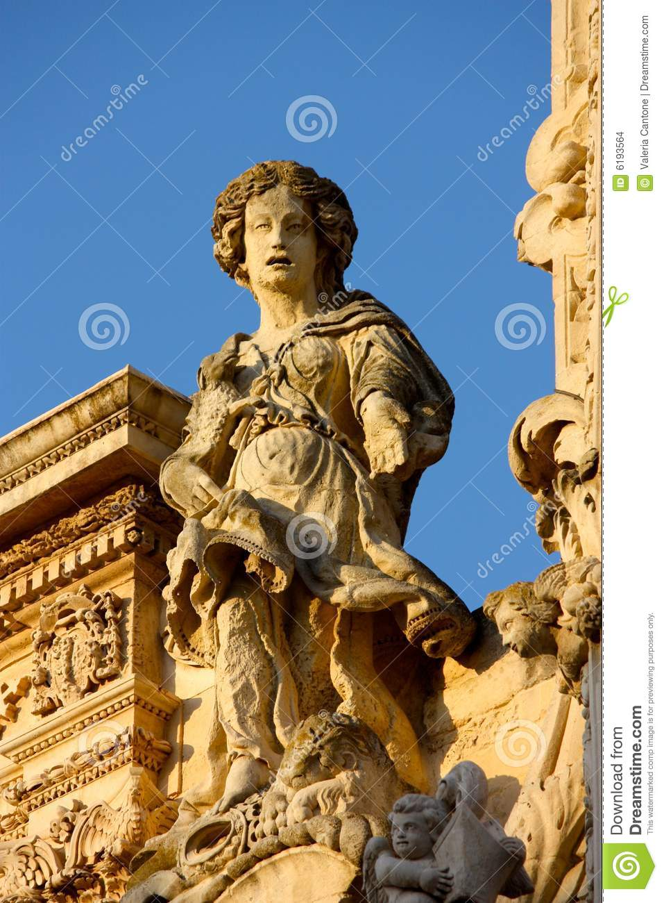 Baroque detail in lecce italy royalty free stock image for Baroque italien