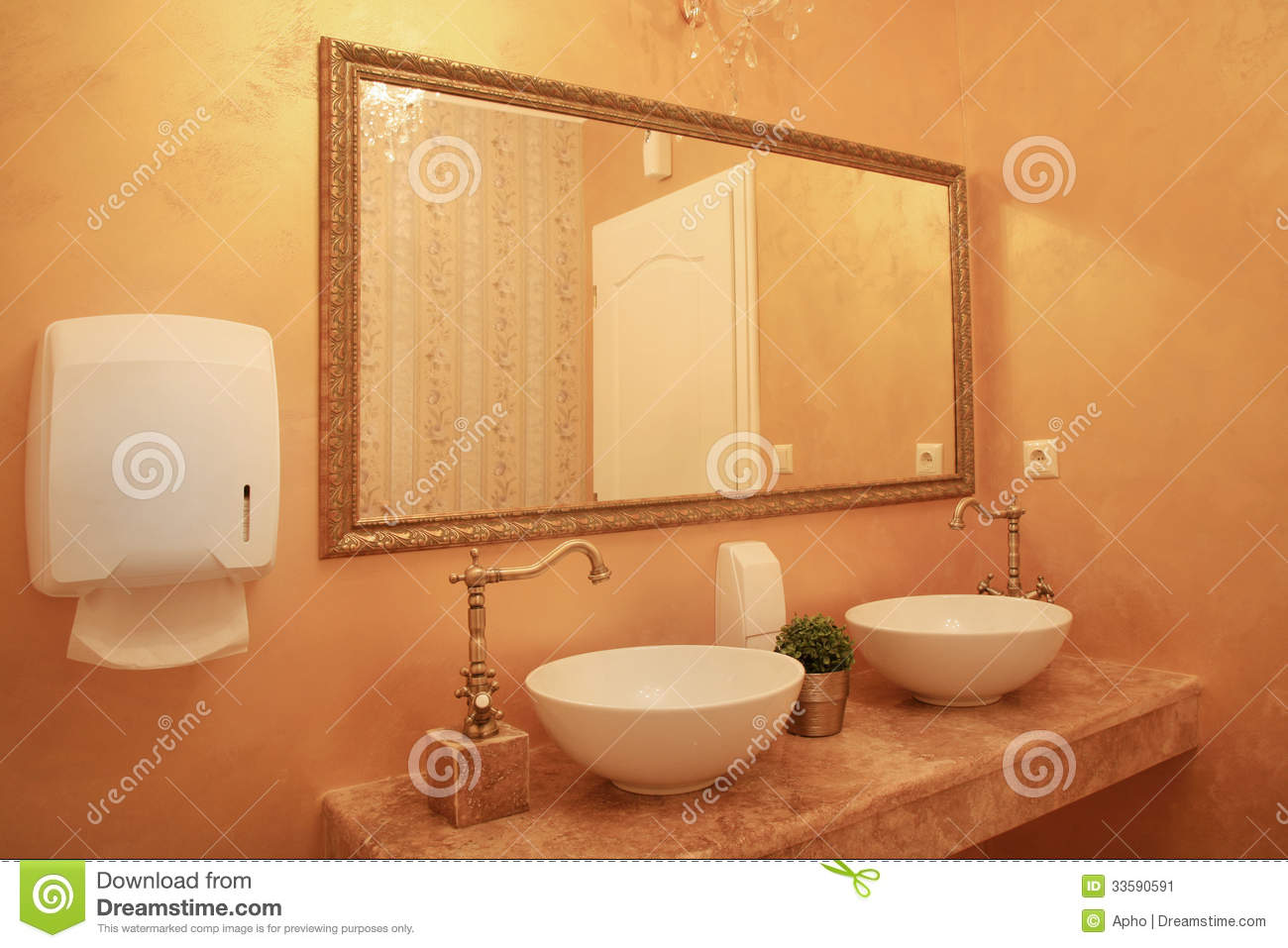 baroque style bathroom interior stock image image 33590591