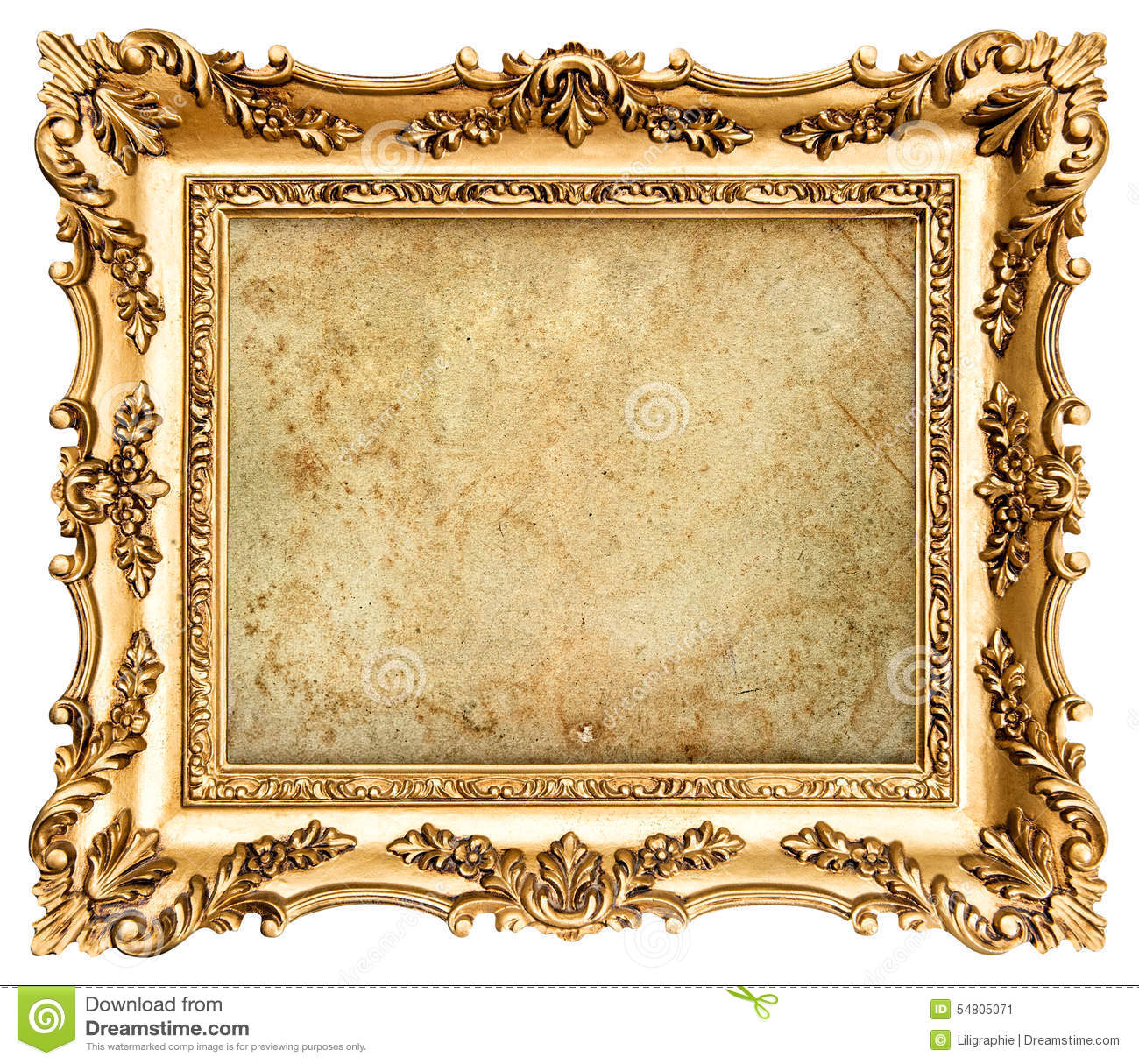 gold frame isolated on white background royalty free stock b