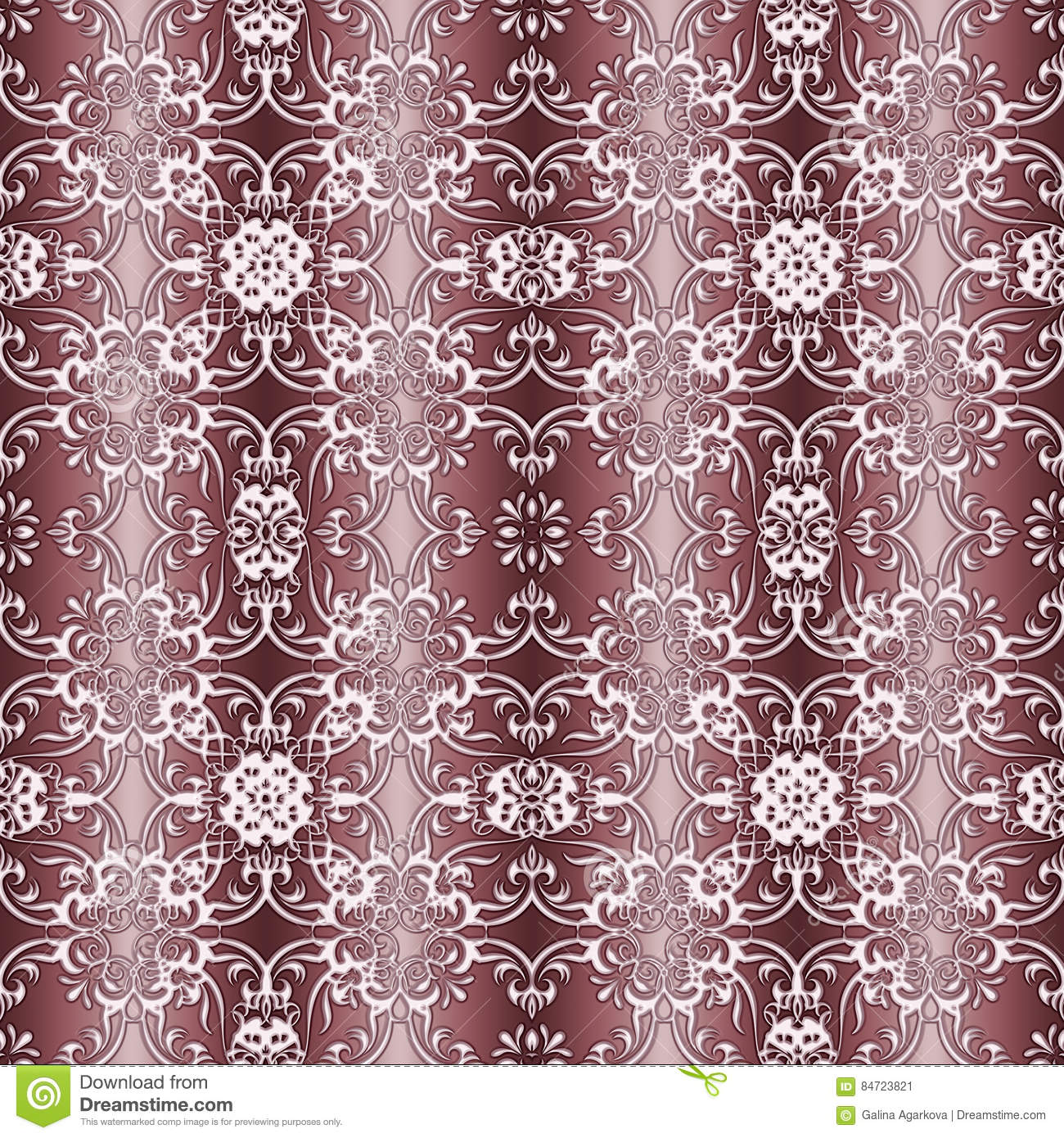 Baroque style seamless pattern royalty free stock for Baroque fashion design