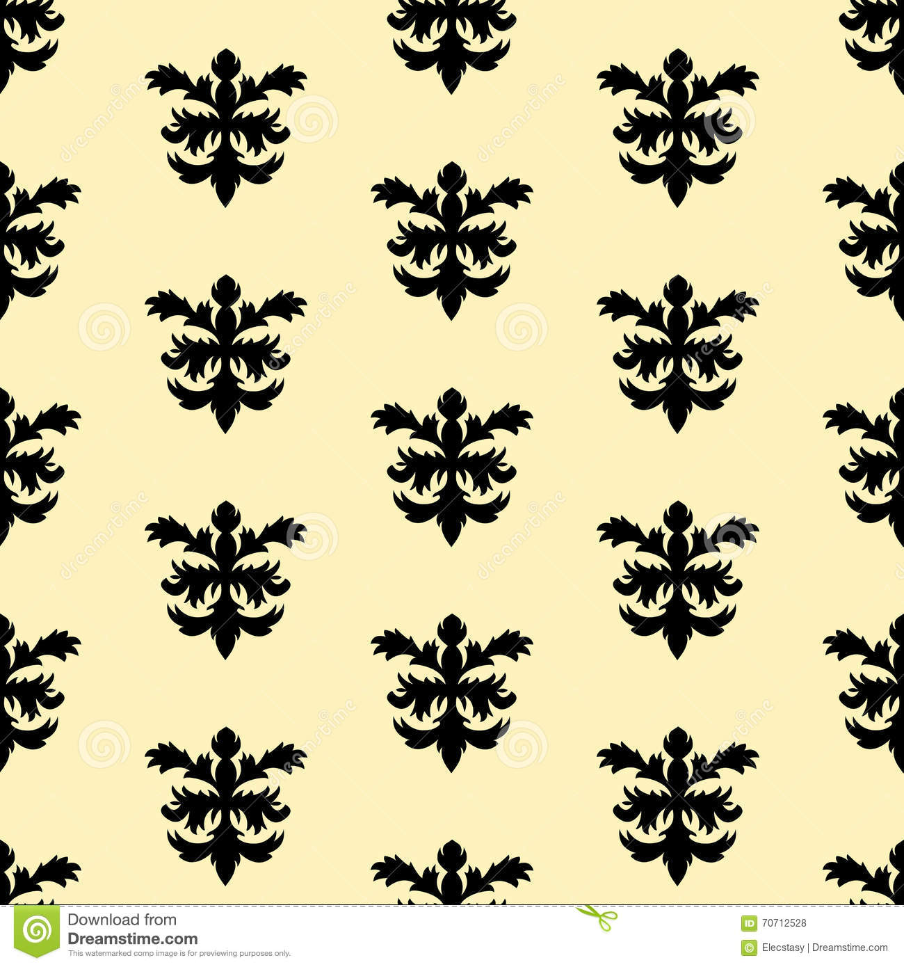 Seamless vector wallpaper in the style of baroque vector for Baroque style wallpaper