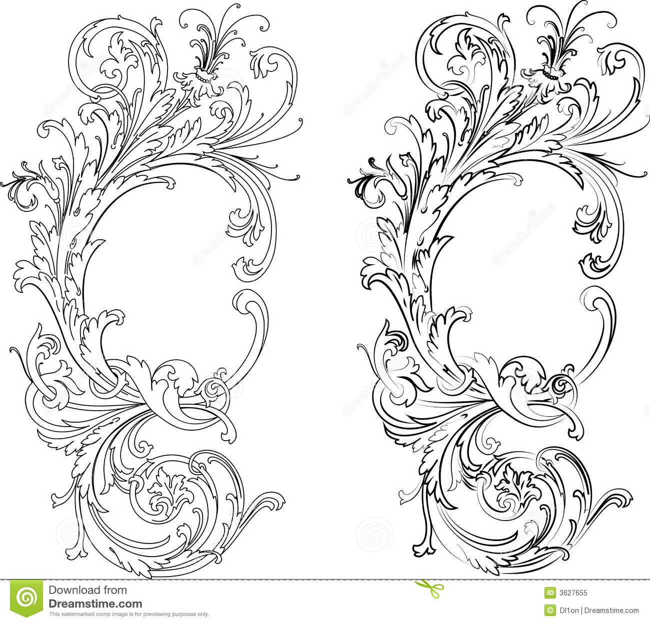 Baroque Two Styles Traditional And Calligraphy Royalty