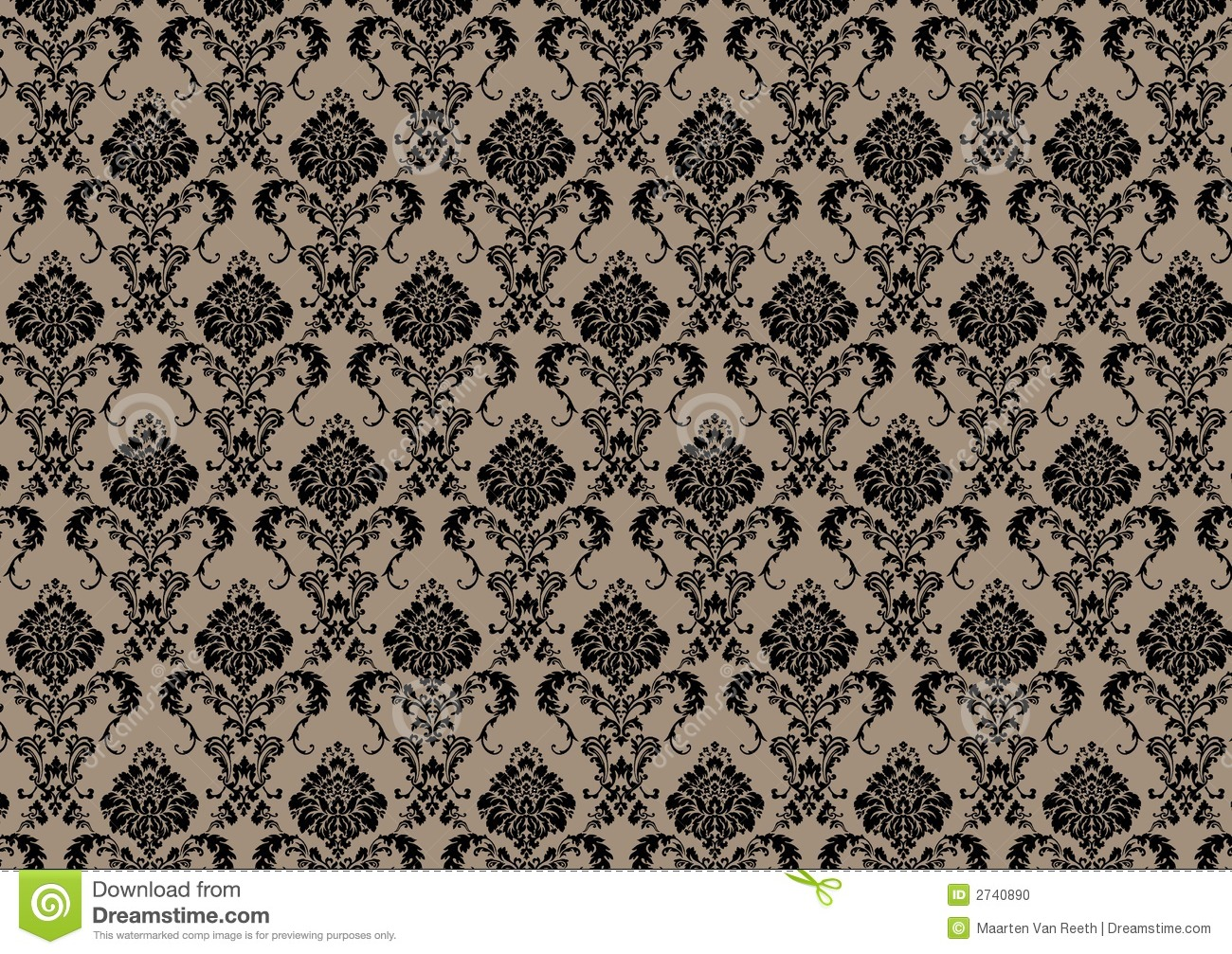 Baroque wallpaper stock illustration image of seventies - Barock wallpaper ...