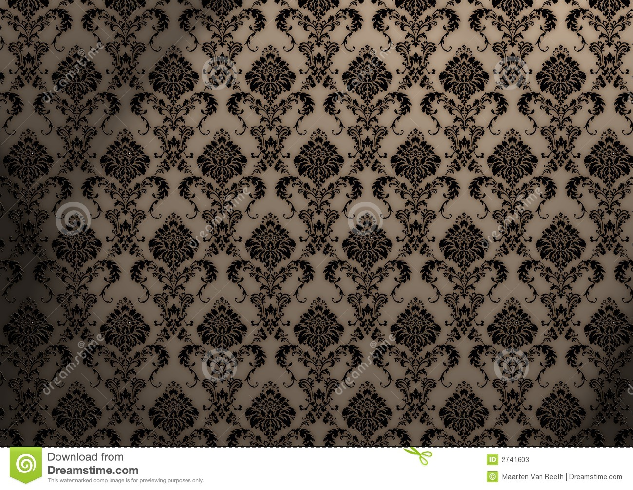 Baroque Wallpaper Stock Illustration Of