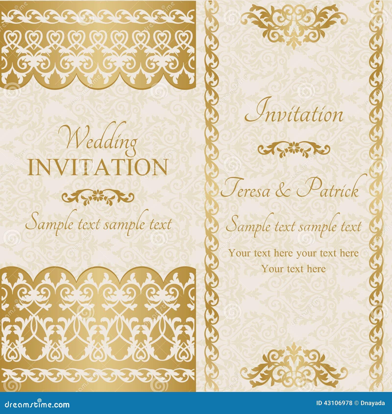 Baroque wedding invitation gold stock vector illustration of baroque wedding invitation gold ancient card stopboris Gallery