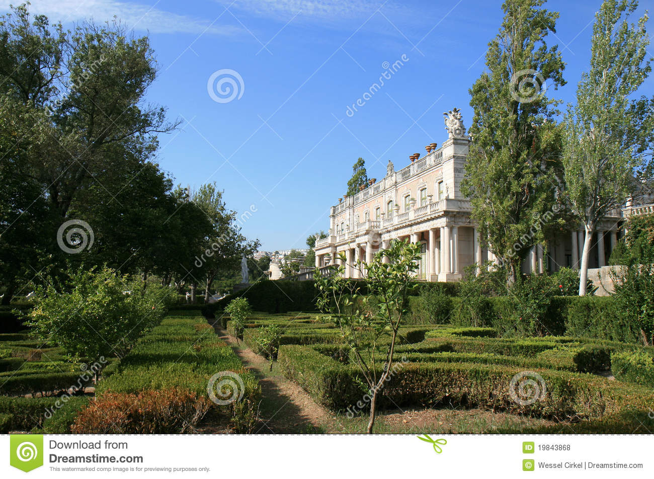 Baroque wing and garden of Queluz National Palace