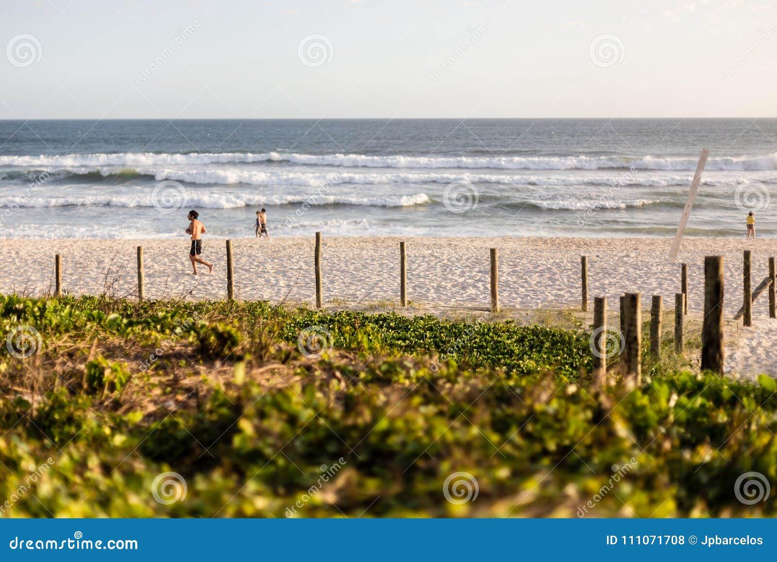 Barra da Tijuca beach on a beatiful afternoon