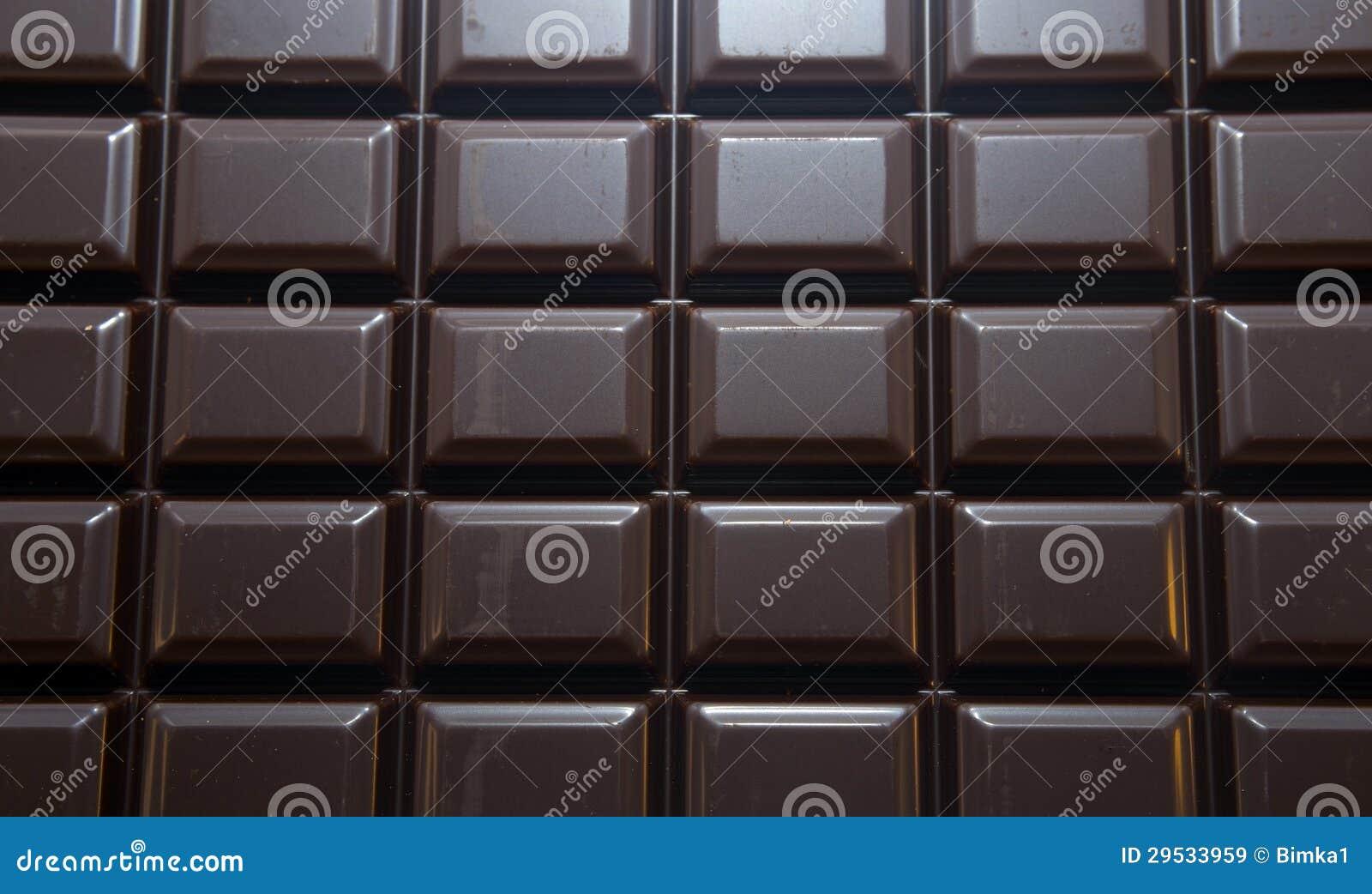 Barra de chocolate com trajeto