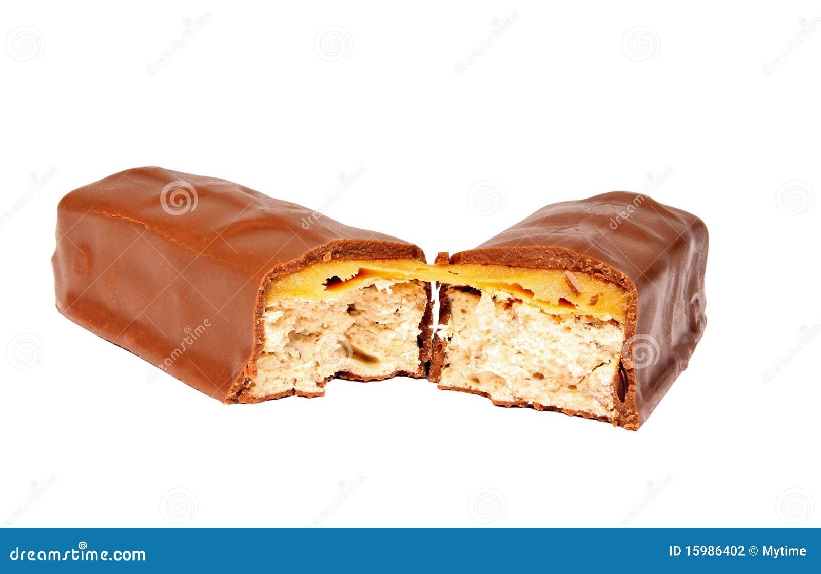 Barra De Chocolate Del Caramelo Foto de archivo - Imagen de postre ...