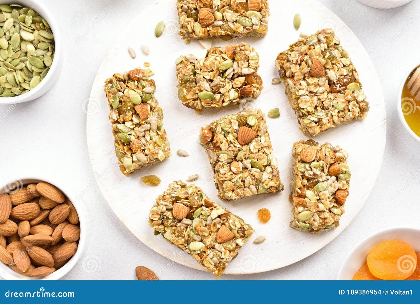 Barra de la nutrición, granola