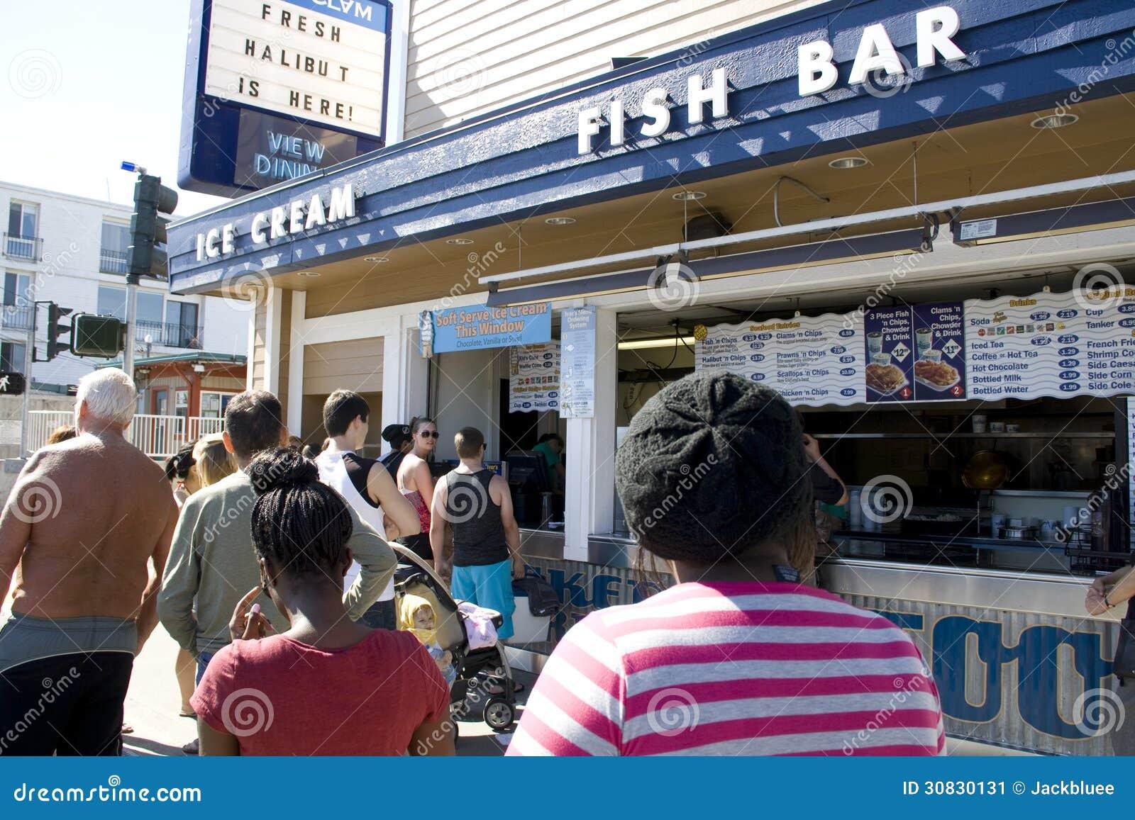 Barra del pesce del gelato