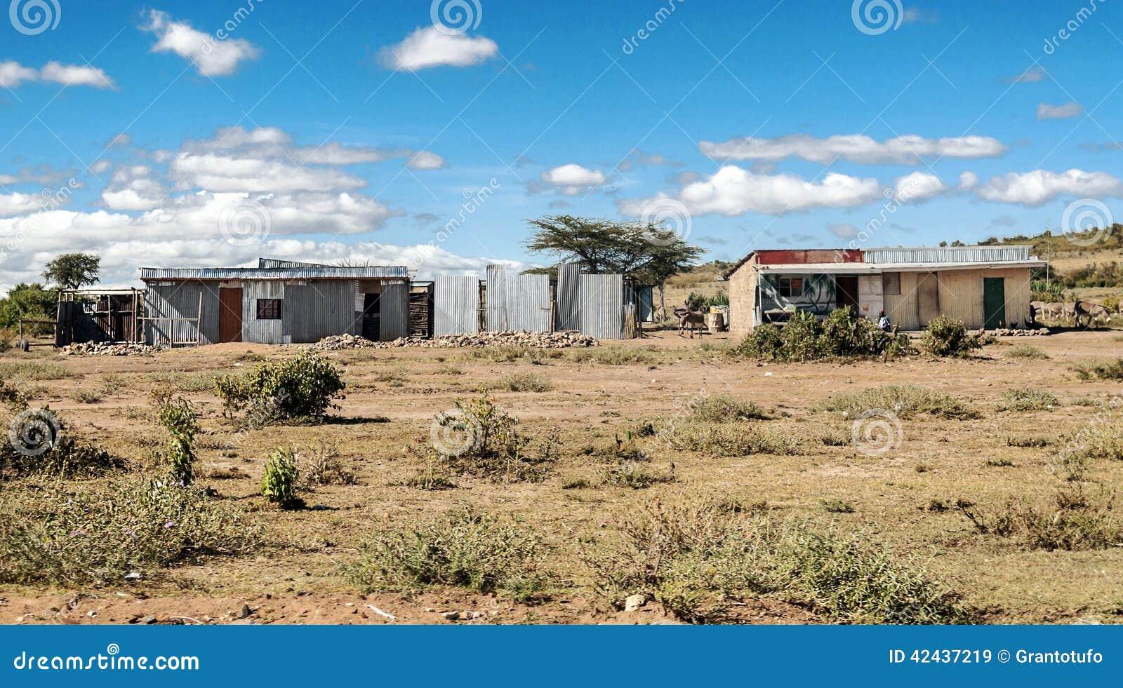 Barra en pueblo del kenia